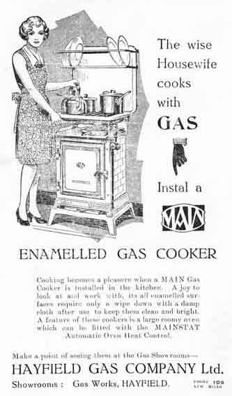 Hayfield Gas Company Advert