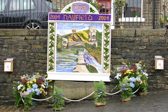Hayfields first Well Dressing (c) Phil Gee 2004